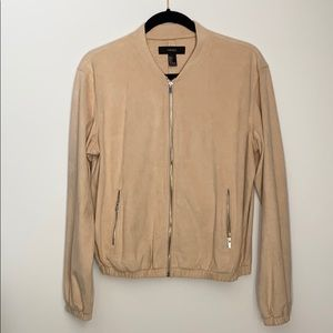 Forever21 Faux suede bomber jacket